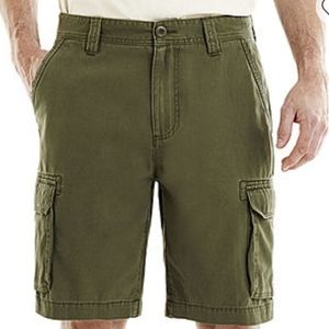 U.S POLO Men's Olive Green Cargo Shorts sz 36